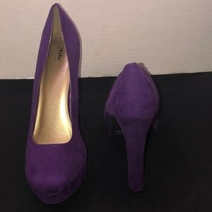 Mossimo Purple Platform Stilettos